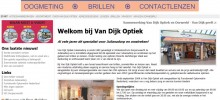 De website van Van Dijk Optiek Julianadorp